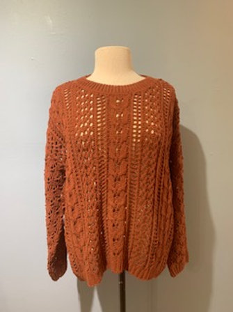Chestnut Open Knit Sweater