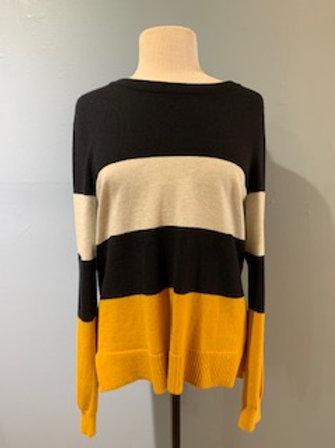 Mustard/Black/Grey Stripe