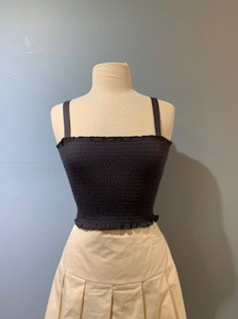Charcoal Tube Top With Straps