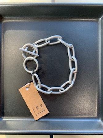 Brushed Silver Link Bracelet