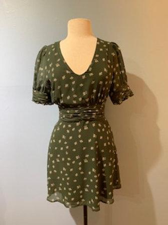 Olive & Cream Floral Dress