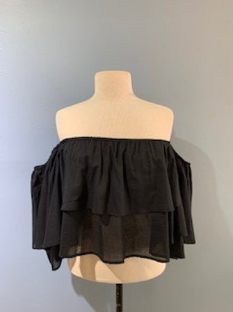 Black Blouse With Detail