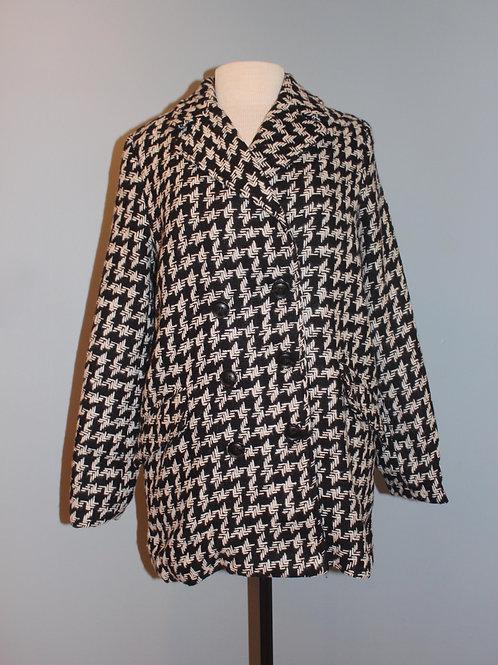 b/w tweed car coat