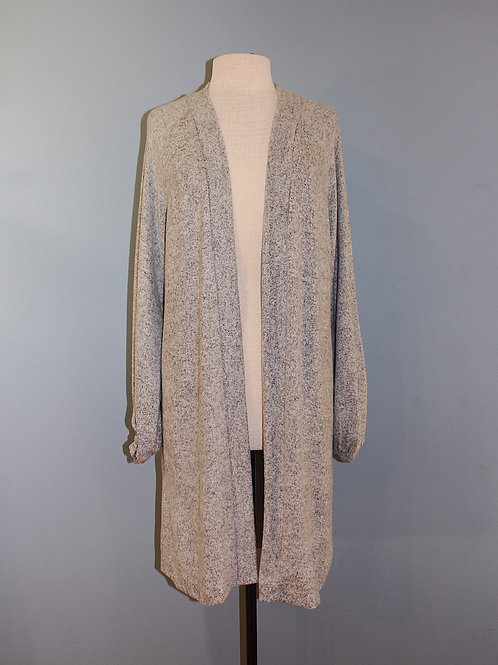 heather grey soft long cardigan