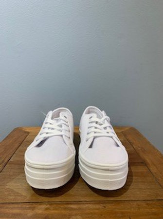 Basejump White Platform Sneakers