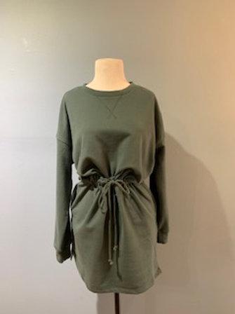 Washed Teal Sweatshirt Dress