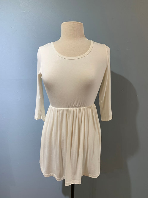 Cream Soft Knit Tunic