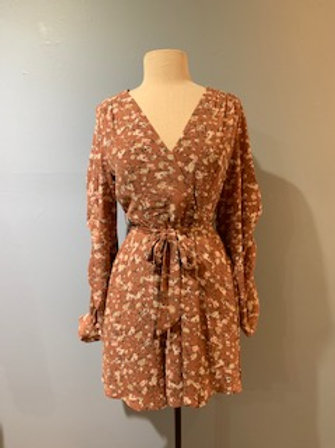 Cocoa Floral Long Sleeve Dress