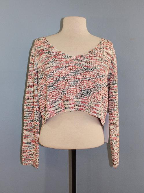 cream multi knit sweater