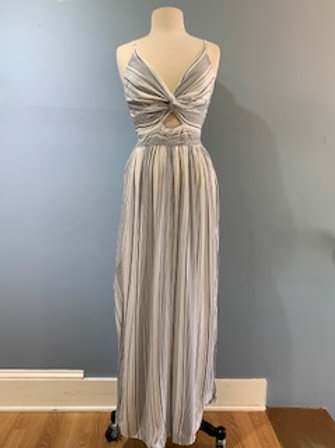 Striped Keyhole Maxi Dress