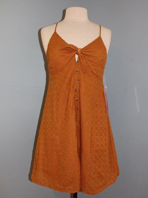 camel eyelet dress