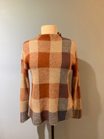 Rust Checked Sweater