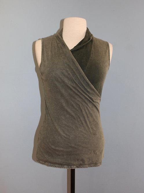 army sleeveless wrap top
