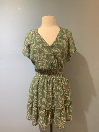 Sage Print Dress