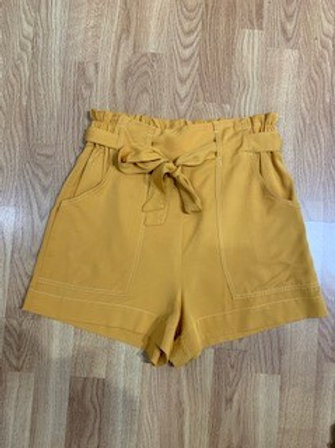 Mustard Paper Bag Shorts