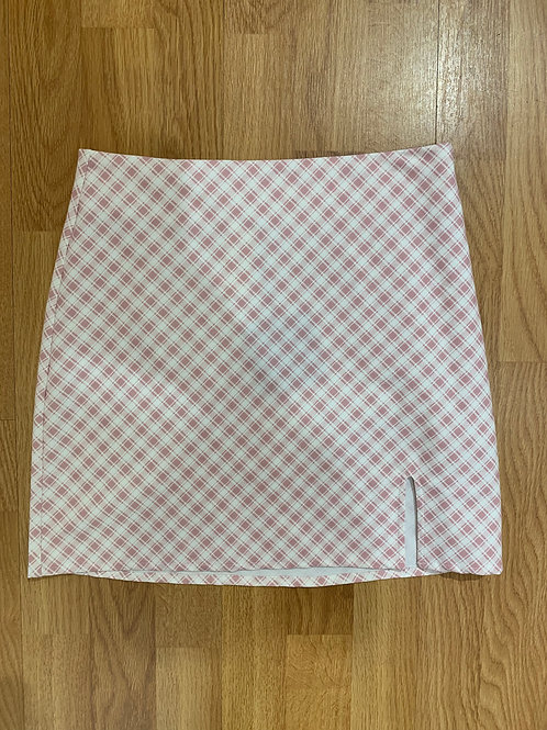 Blush Gingham Skirt