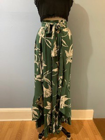 Olive And Cream Open Front Wrap Pants