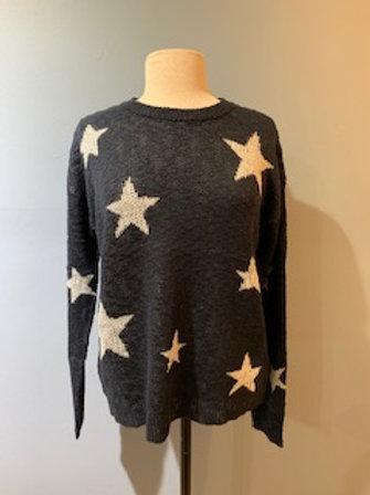 Navy Star Sweater