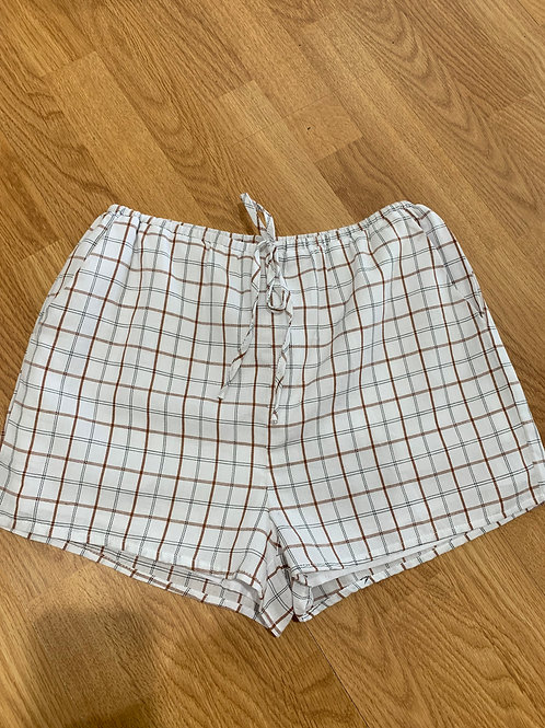 Windowpane Check Shorts