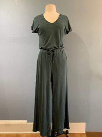 Teal Ribbed Jumpsuit