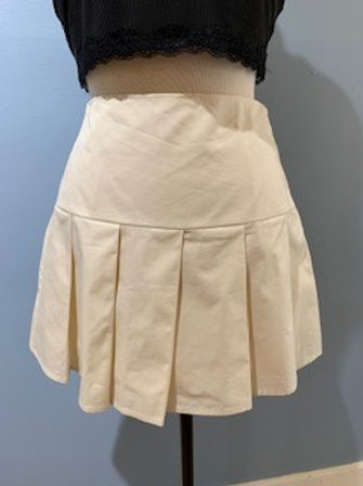 Cream Tennis Skirt