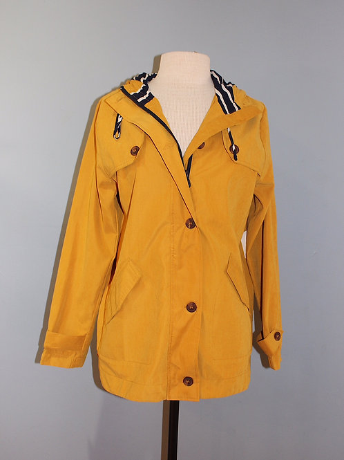 yellow w/ navy stripe jacket