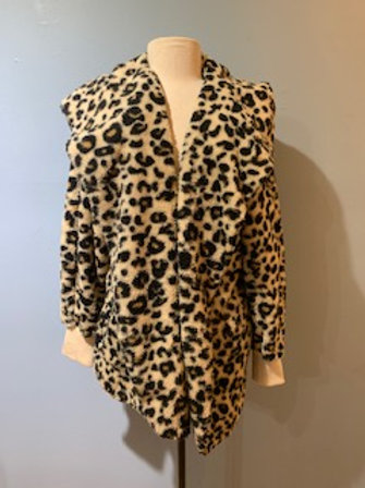 Leopard Teddy Bear Coat