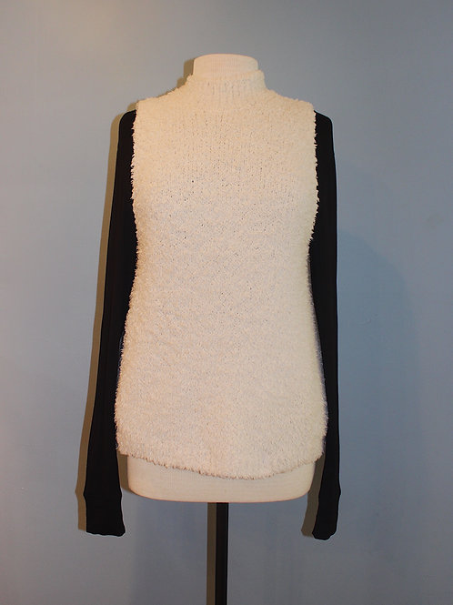 cream turtleneck with open sides
