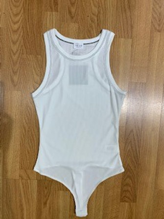 White Racerback Bodysuit