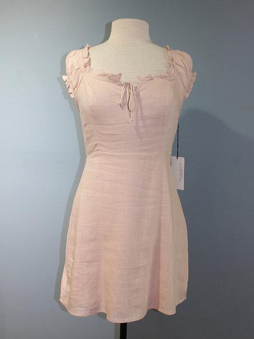 petal tie front dress