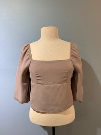 Mauve Blouse With Tie Up Back