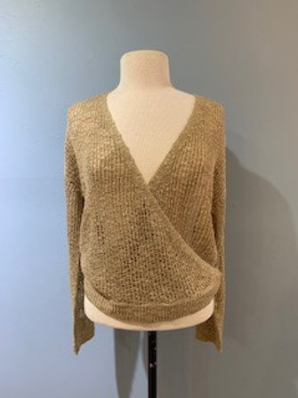 Taupe Cross Front Sweater