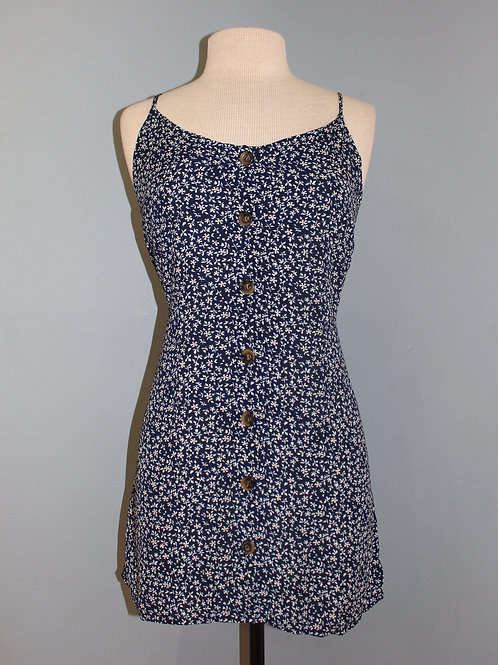 button front floral mini