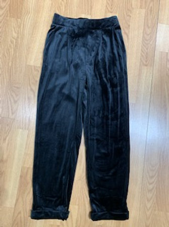 Velvet Cropped Cuffed Pants