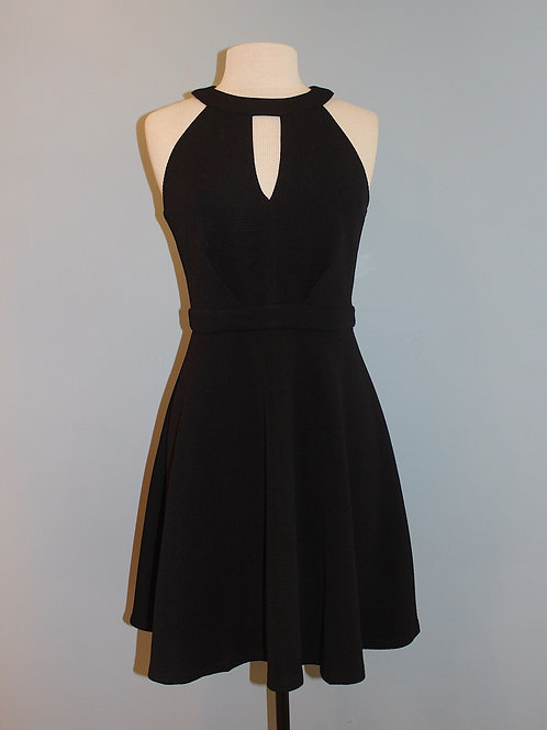 black keyhole party dress