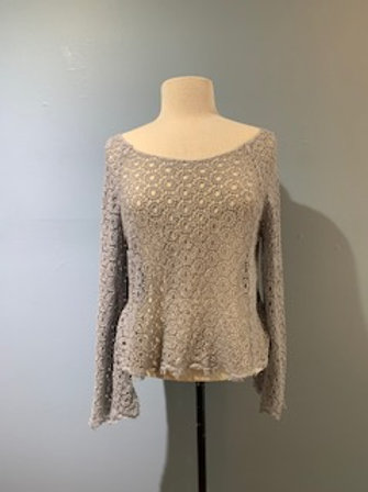 Dove Grey Open Knit Sweater