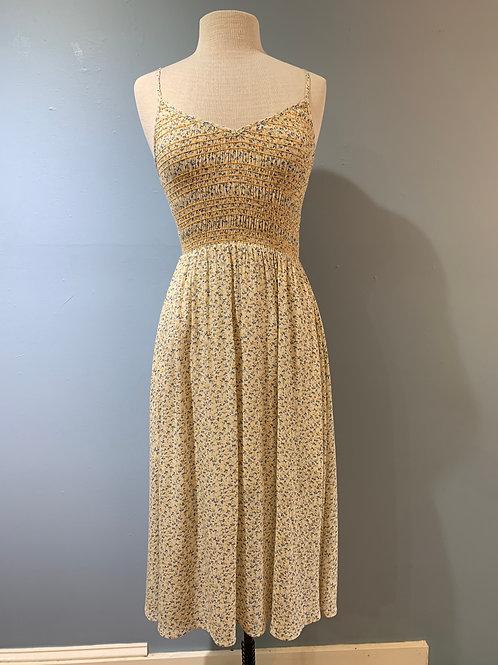 Goldenrod Floral Midi Dress