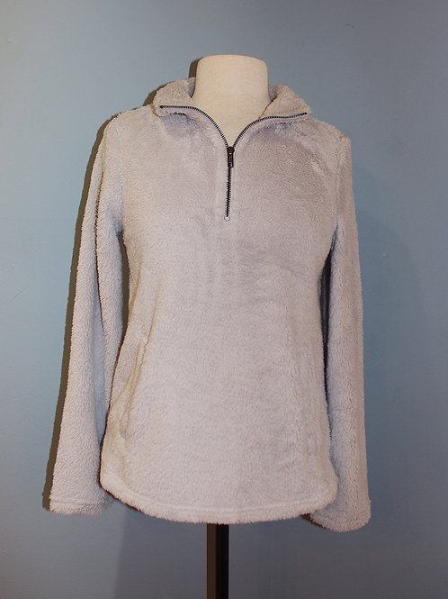 half zip fuzzy jacket