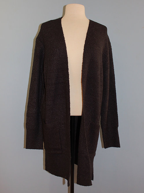 charcoal speckled long cardigan