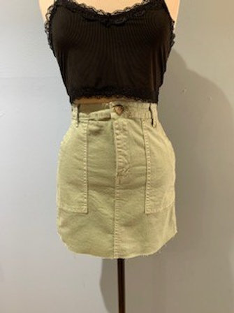 Sage Raw Edge Skirt