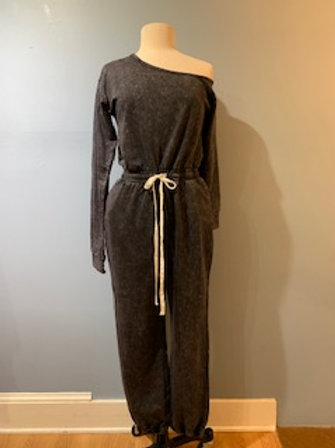 Washed Charcoal Jumpsuit