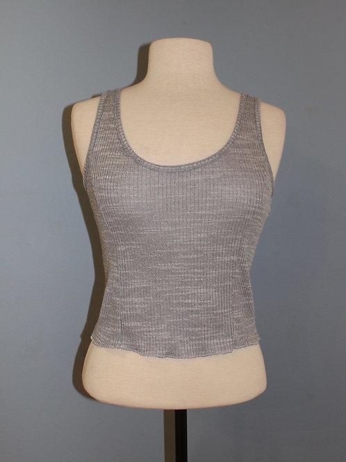 grey cropped knit tank