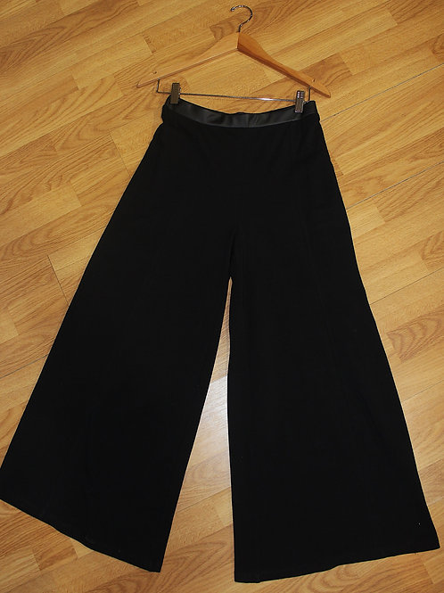 wide leg with leather waistband