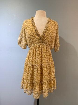 Yellow & Cornflower Summer Dress