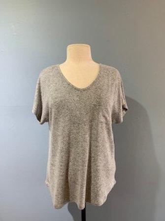 Grey Slouchy Sweater Tee