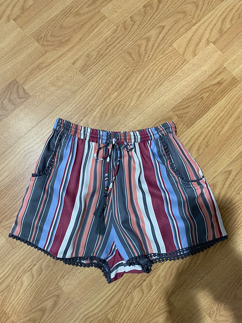 Striped Shorts with Trim