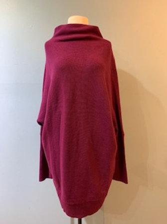 Purple Slouch Neck Tunic