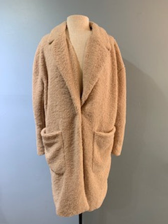 Blush Fuzzy Car Coat