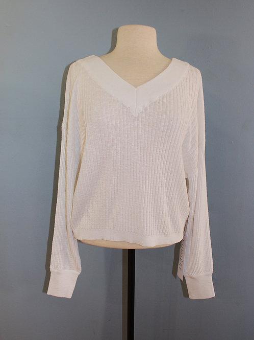 white double v sweatshirt