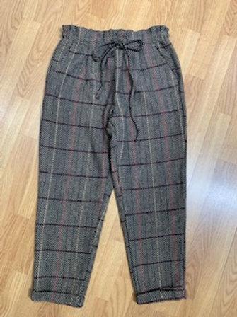 Taupe Herringbone Pants